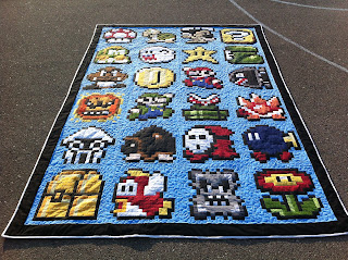 Awesome geeky quilt