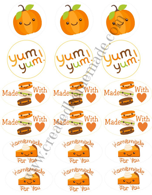 Fall Homemade Labels free from www.createdhomemade.com