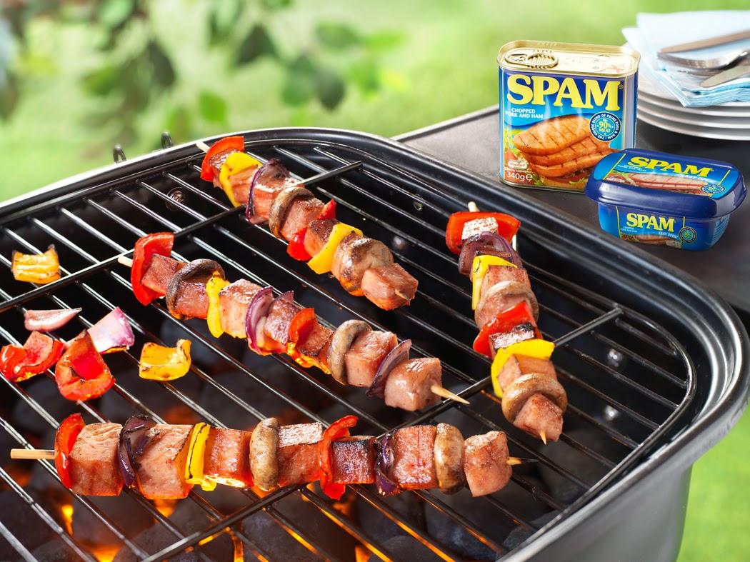 SPAM BBQ Kebabs