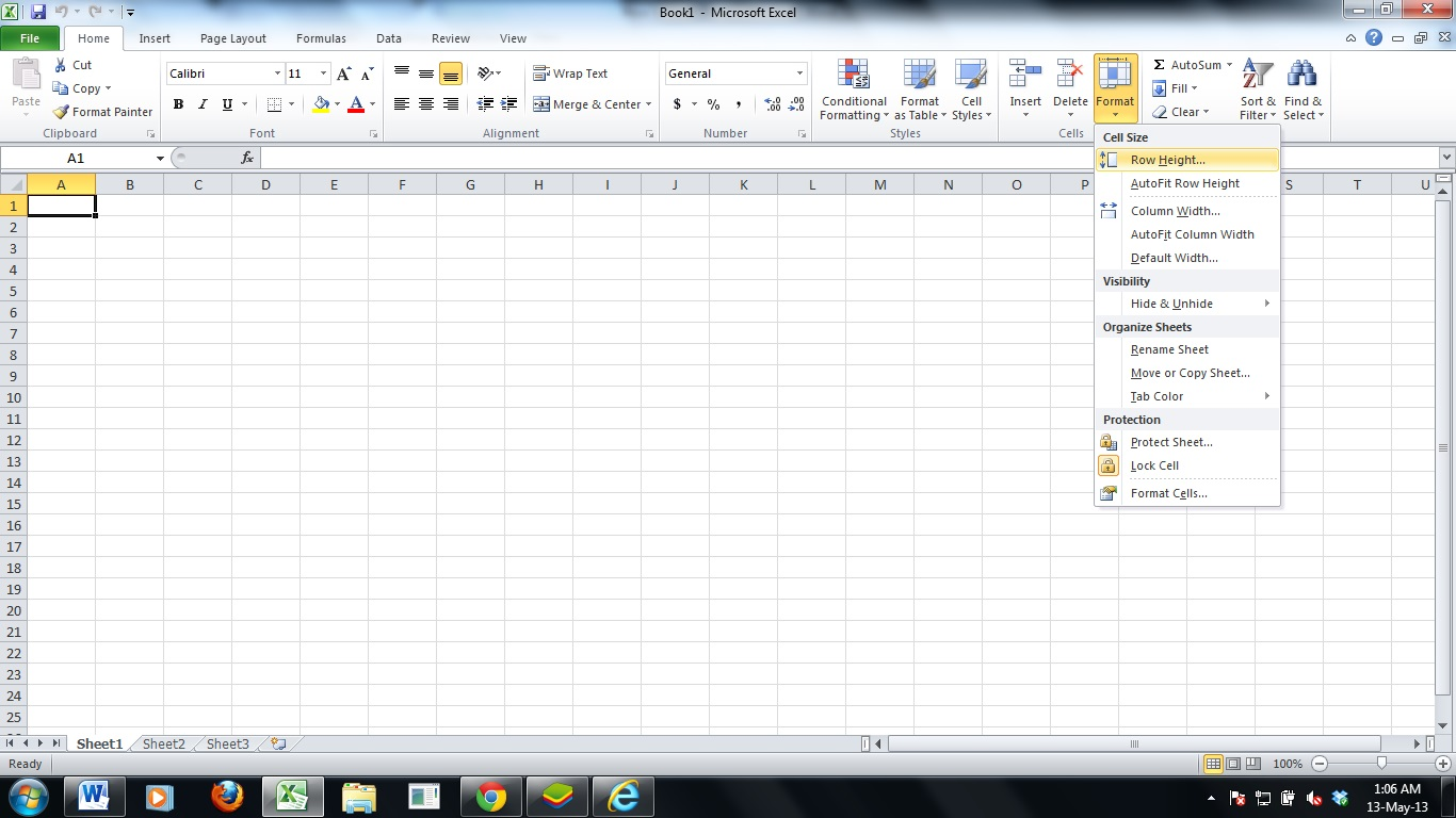 Microsoft Excel Limit Rows