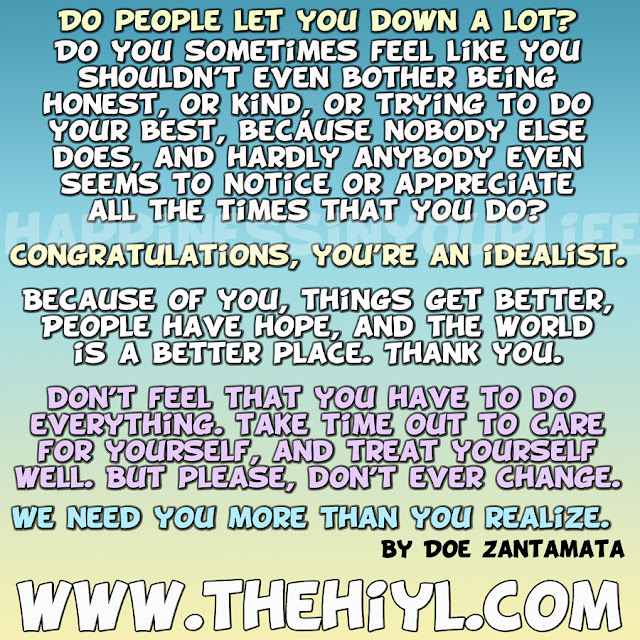 Quotes About People Who Notice: Thank You, Idealists Of The World
