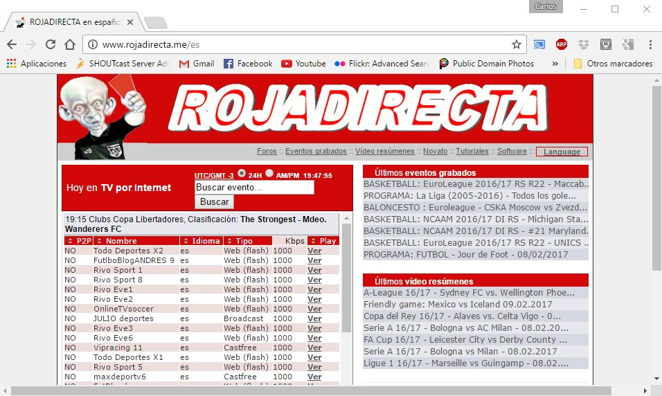 Come vedere Rojadirecta in Italia via VPN