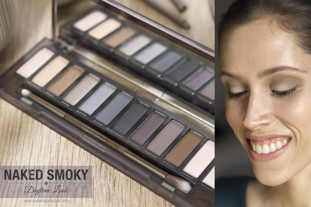 Naked smoky eyeshadow palette daytime look