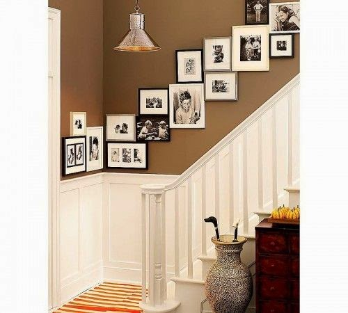50 Creative Staircase Wall decorating ideas, art frames ... on Creative Staircase Wall Decorating Ideas  id=60666