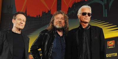 John Paul Jones, Robert Plant et Jimmy Page en 2012