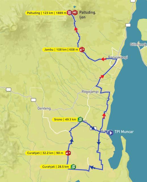 Rute etape 4 ITdBI 2016.