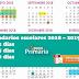 Calendario escolar 2018 - 2019