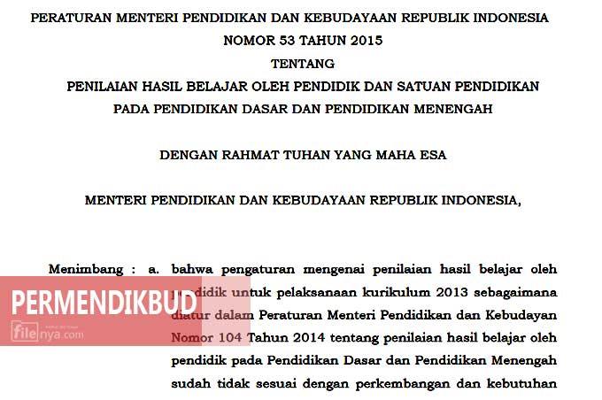 Download Permendikbud No  Pdf