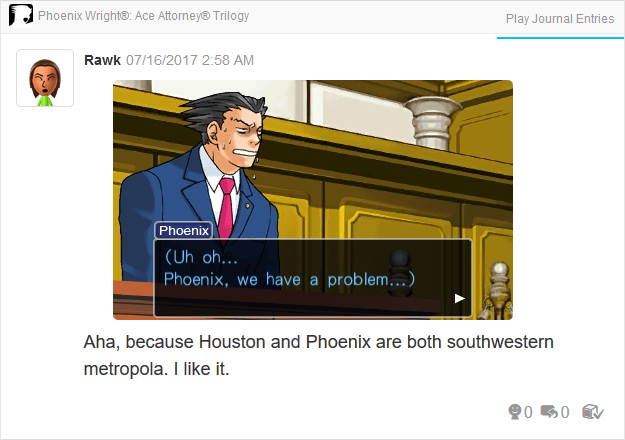 Phoenix Wright Ace Attorney Trials and Tribulations we have a problem