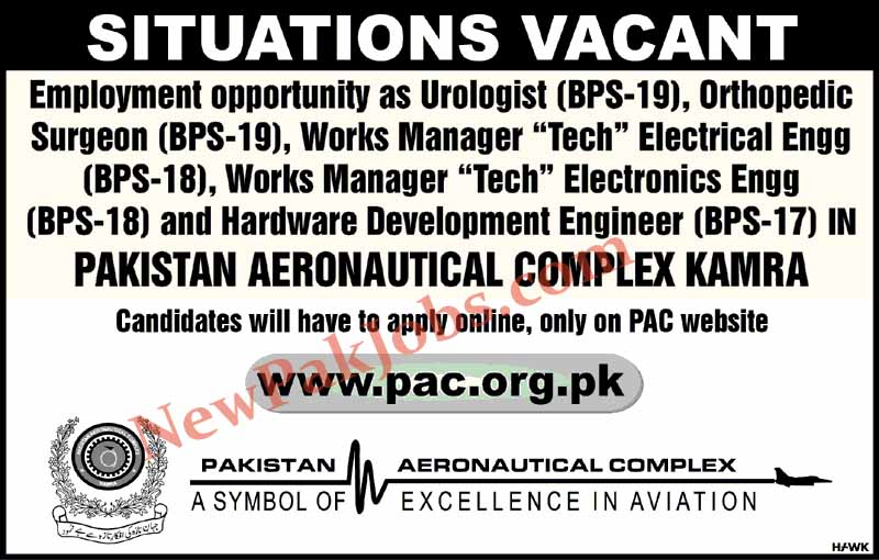 Latest Jobs In Pakistan Aeronautical Complex Board PAC 28 Apr 2019