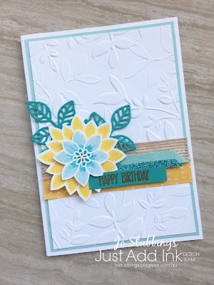 Jo's Stamping Spot - Just Add Ink Challenge #384 using Flourishing Phrases stamp set by Stampin' Up!