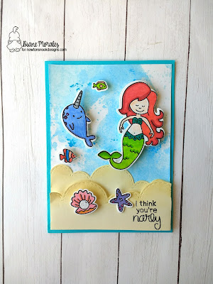 "Your Narly! a card by Diane Morales | Narly Mermaids Stamp Set by Newton""s Nook Designs"