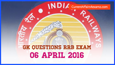 GK for Railway Exam 2016
