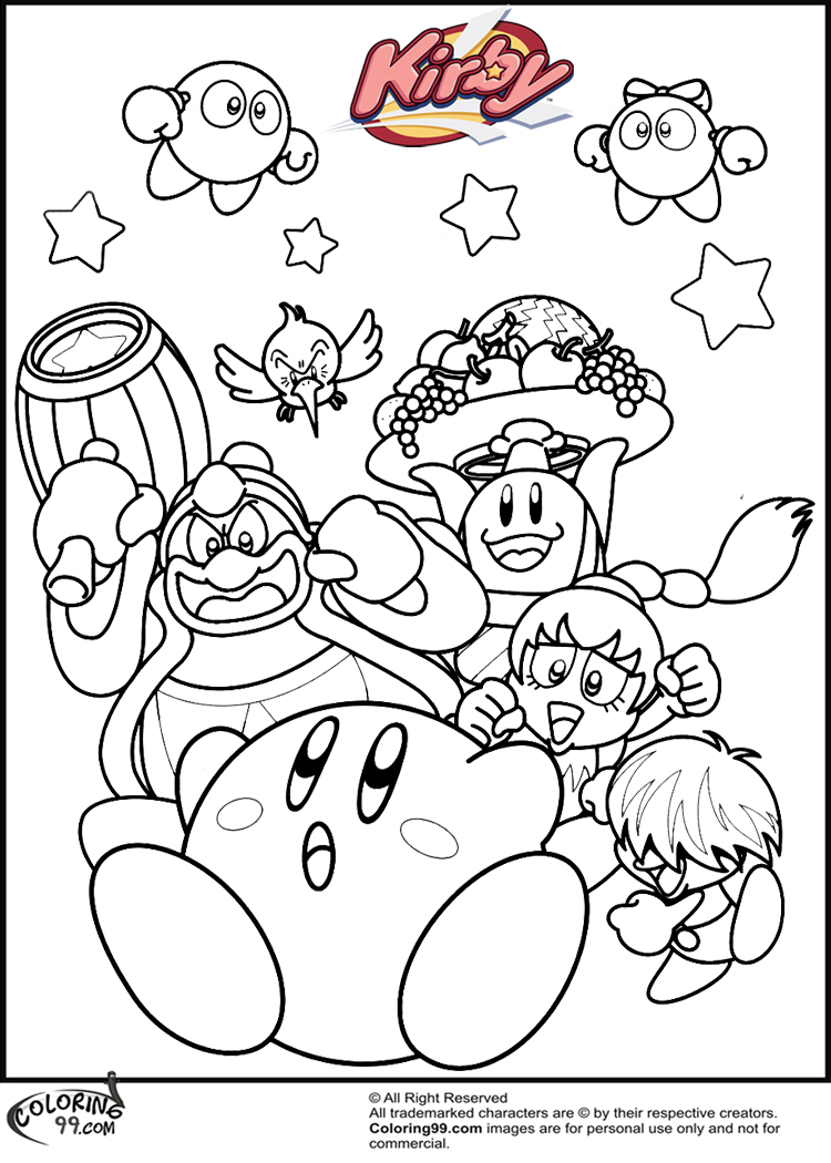 Kirby coloring pages coloring pages for Cute kirby coloring pages