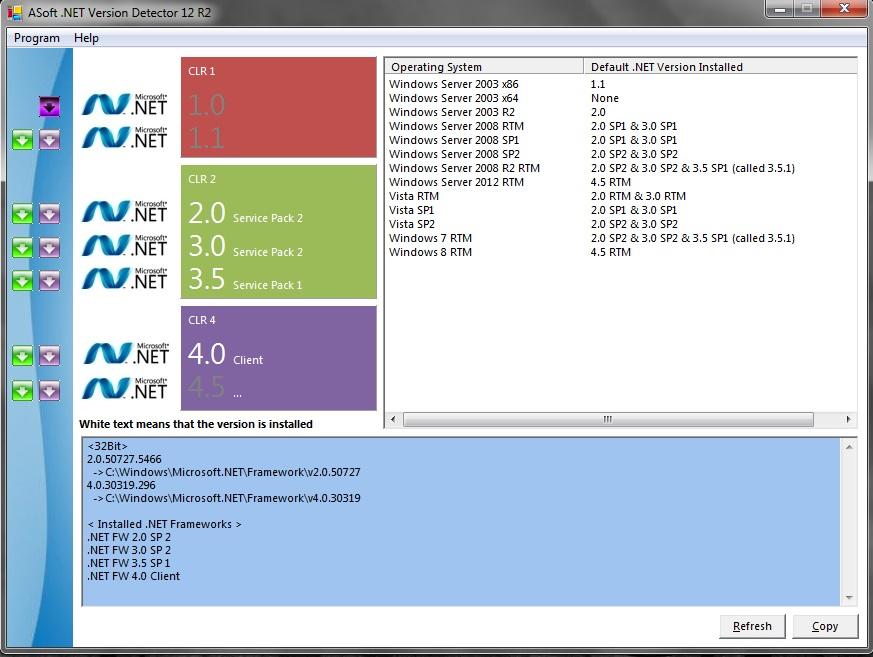 Cara Melihat Versi .Net Framework