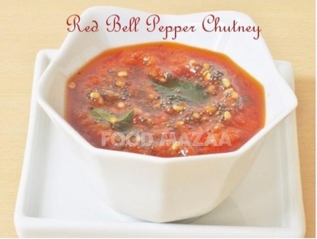Shobha's Food Mazaa: ROASTED RED BELL PEPPER DIP / CHUTNEY / SAUCE