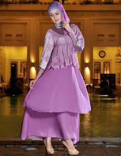 Baju pesta modern untuk wanita muslim