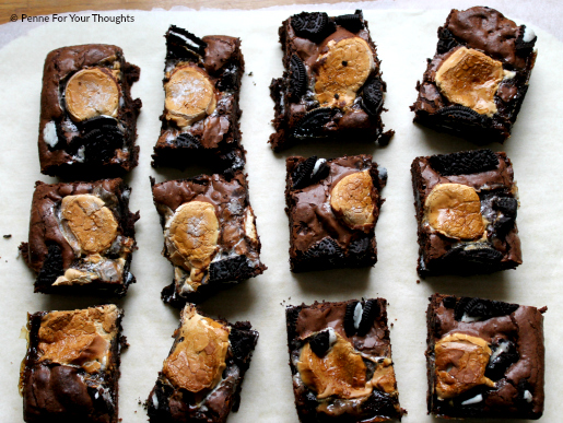 Oreo Marshmallow Brownies from Penne For Your Thoughts