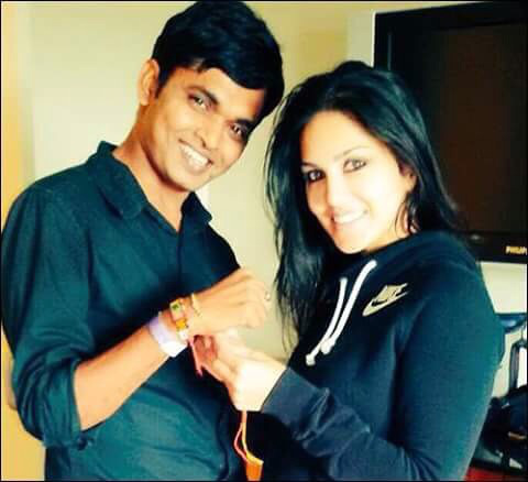 Sunny Leone celebrated Raksha Bandhan