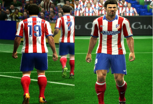 Uniforme Titular Atlético De Madrid 2014-2015  PES 2013  - RE-PA Kits 964f3df6896e5