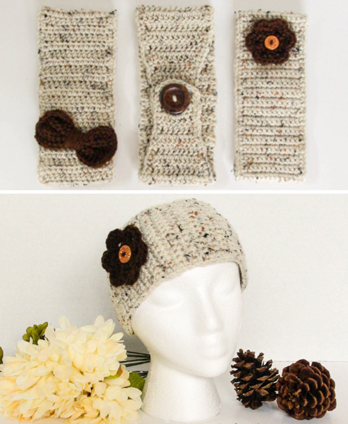 Basic Ear Warmer 3-Ways - Free Patterns