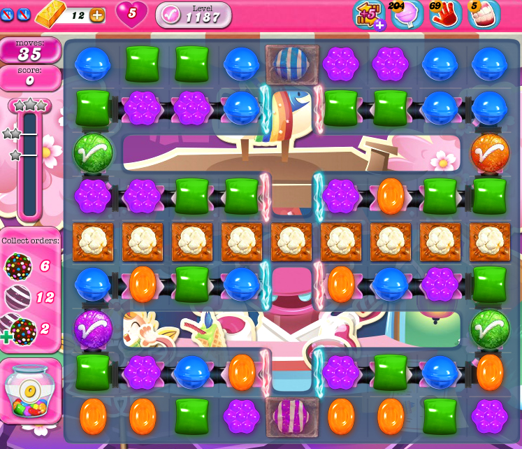 Candy Crush Saga 1187