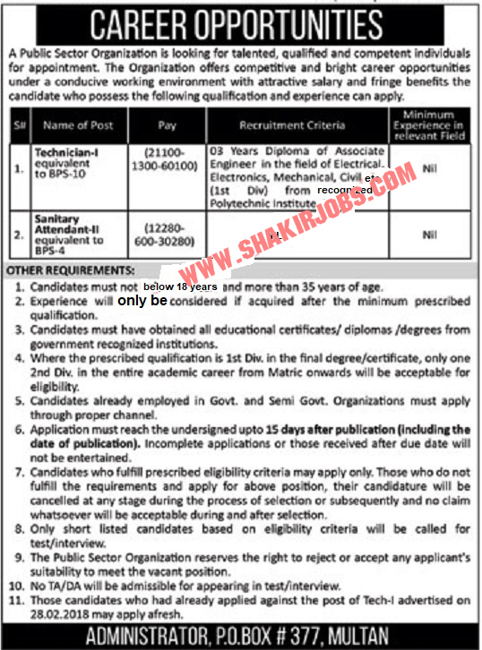 PAEC Atomic Energy Multan Jobs 2019
