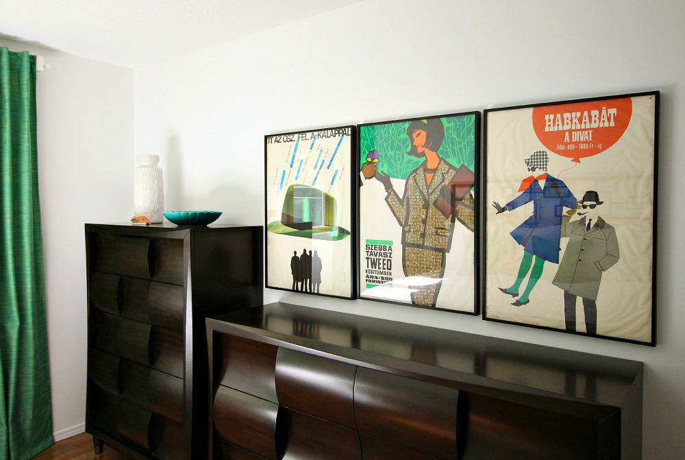 1960s Fashion Posters Framed as Art