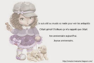 message d'anniversaire amie en français
