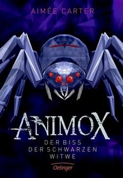 Bücherblog. Rezension. Buchcover. Animox - Der Biss der schwarzen Witwe (Band 4) von Aimée Carter. Kinderbuch, Fantasy. Verlagsgruppe Oetinger.