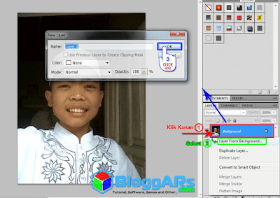 Mengilangkan background di photoshop