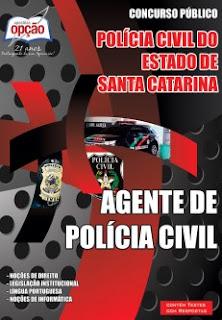 Apostila impressa concurso PC-SC Agente de Polícia Civil SC.