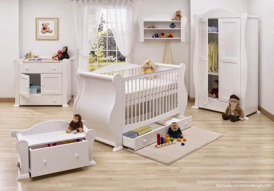 Dormitorio para bebé blanco