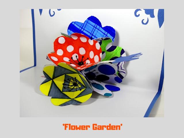 Flower Garden, pop up card by Minaz Jantz