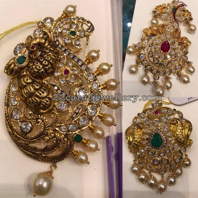 Light Weight Nakshi Peacock Pendants