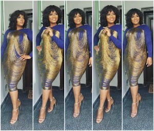 Checkout Omotola Jalade-Ekeinde's look to Senator Saraki's daughter's wedding