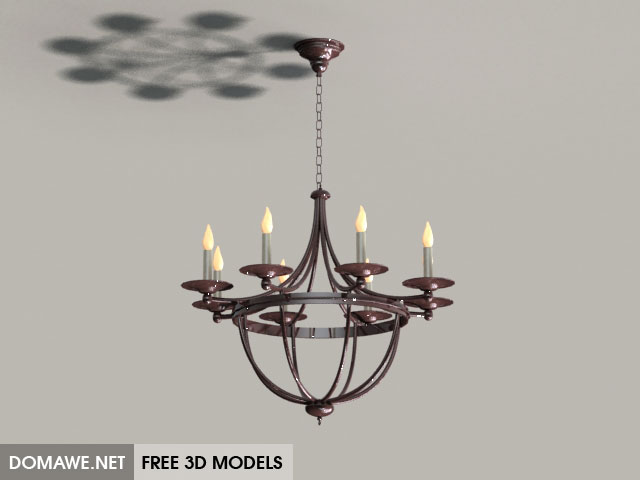 DOMAWE net: Luster Ceiling Lamp 3D Model Free Download - 2