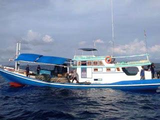 KN Ular Laut-4805 Bakamla RI Tangkap Kapal Ikan Tanpa Izin