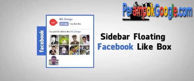 cara mudah membuat floating box like dan share facebook di blogger