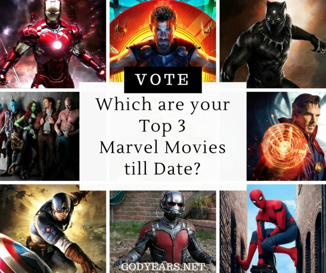 Which, in your opinion, were the 3 best Marvel movies of the 18 till date? Join the poll and have your say.