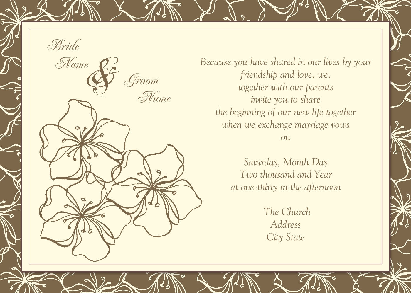 Wedding Card Invitation Messages: MyDiane Designs: Wedding Invitations