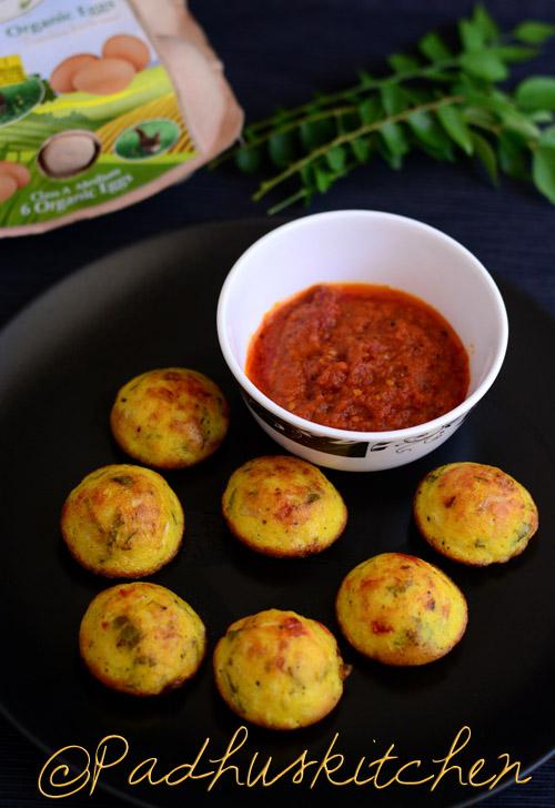 Egg Paniyaram-Muttai Paniyaram