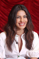 Priyanka Chopra in White Shirt and Colorful Skirt at Baywatch Press Conference  15th May 2017 ~  Exclusive 23.jpg