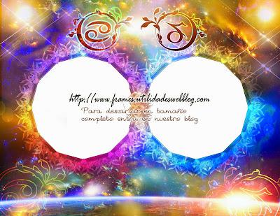 Marcos para fotos de enamorados del signo zodiacal Cancer y Capricornio
