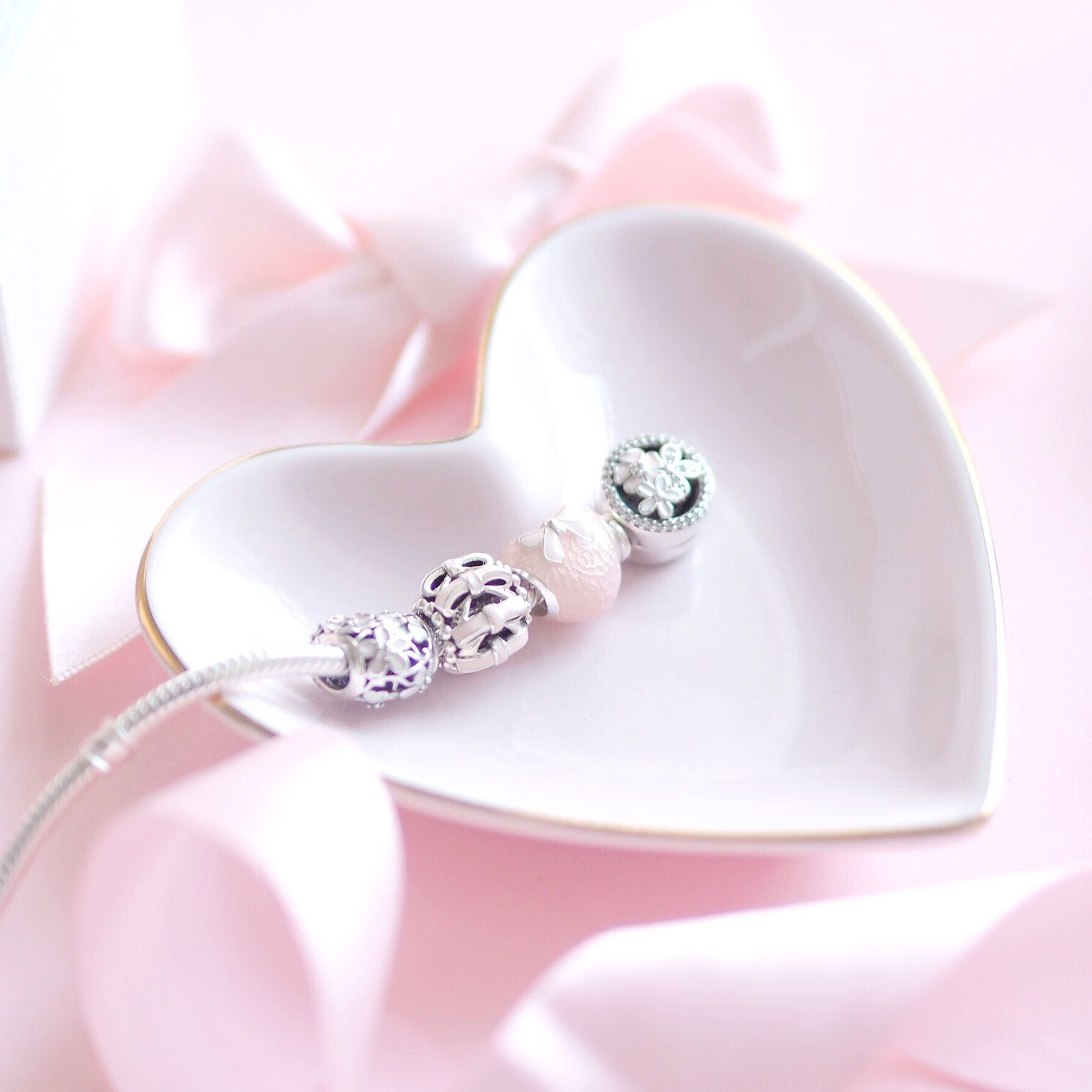 Pandora Pink Bow & Lace Heart Charm | What I Got Treated To On Christmas Day