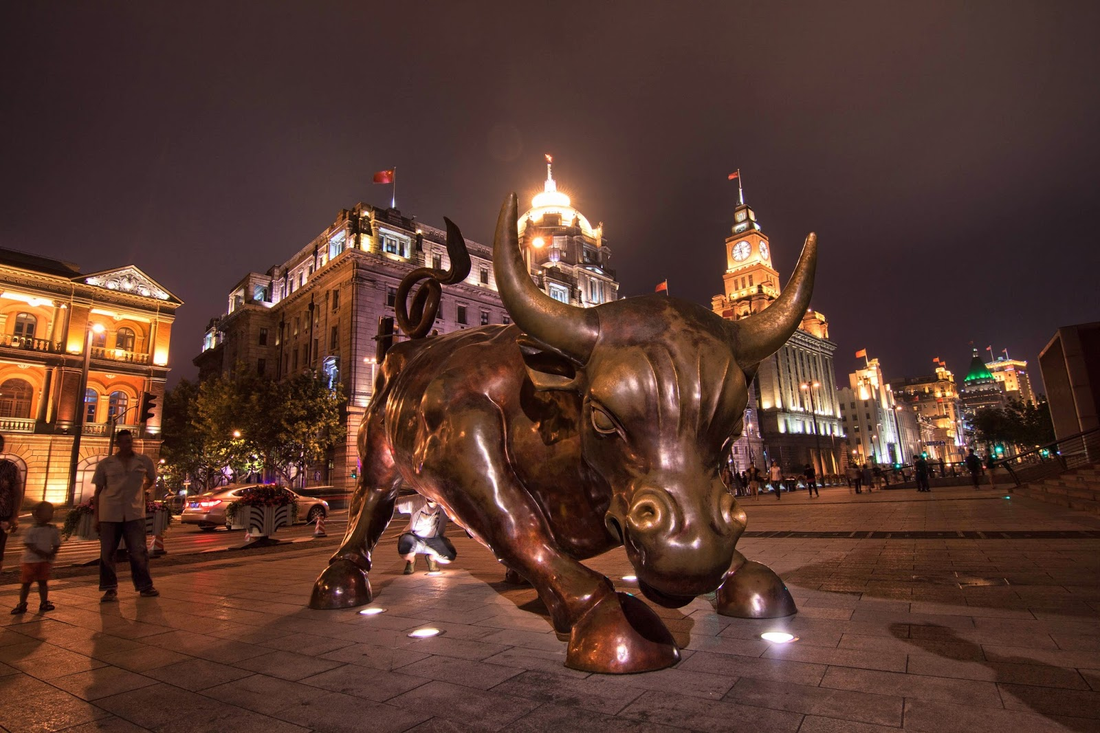 The Bund Financial Bull