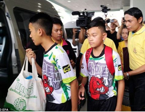 11 Thai boys and their soccer coach rescued from a flooded cave in Thailand have been discharged from the hospital