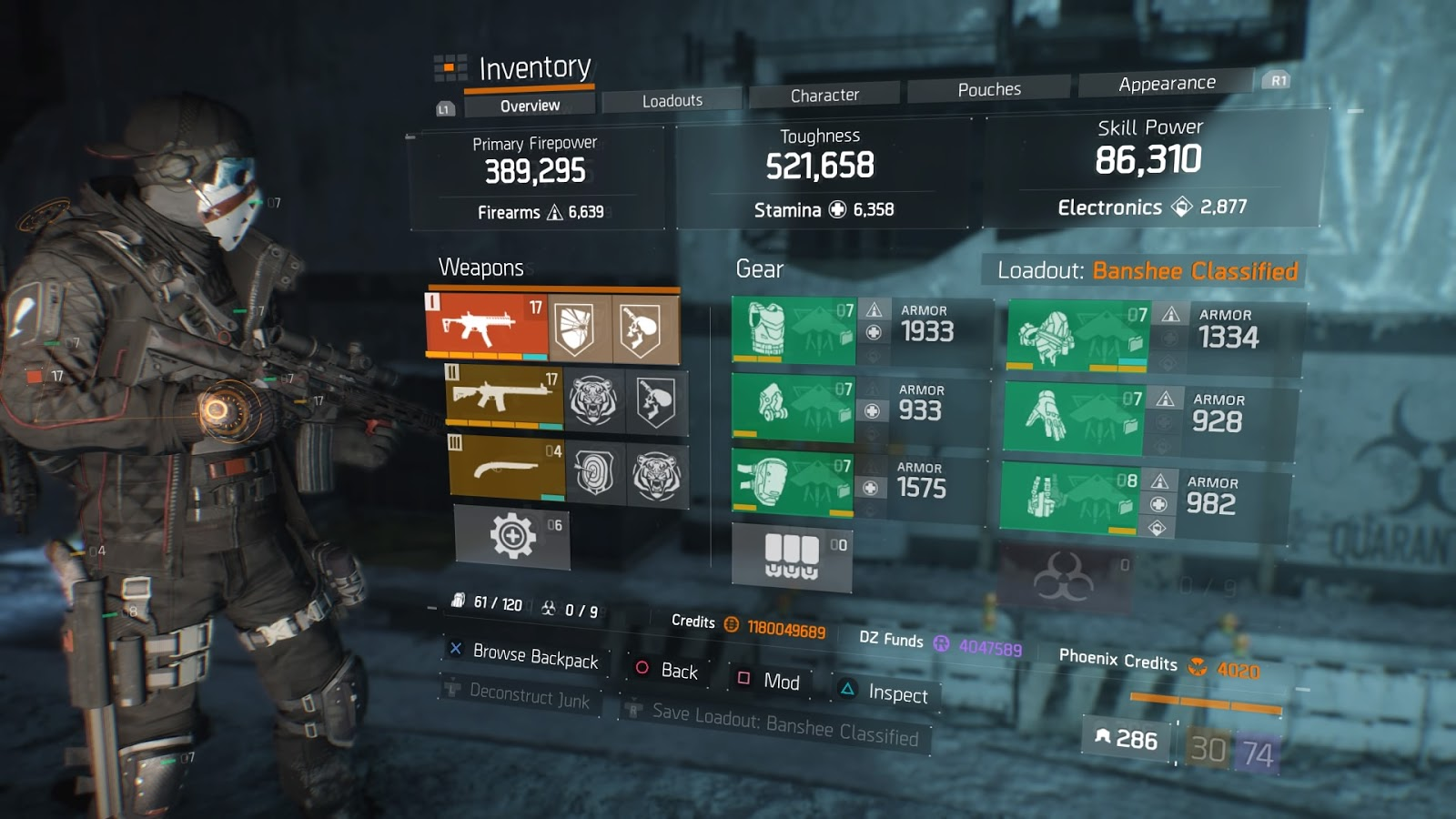 The Division 1 8 1 Banshee Classified Build