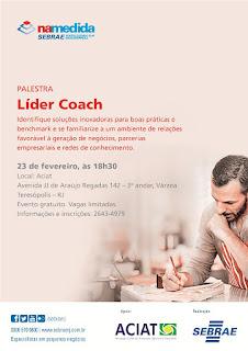 Convite SEBRAE Teresópolis - Palestra Líder Coach 23/02/2016