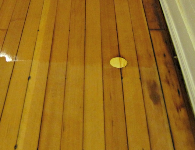 Plug in hardwood floor- how to fix a hole in a hardwood floor